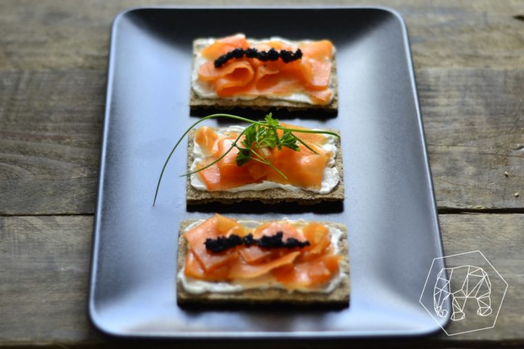 Vegan Carrot Salmon on Swedish Crispbread