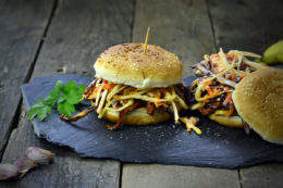 BBQ Burger made from Banana Peels