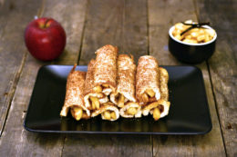 French toast rolls with apple-cinnamon filling