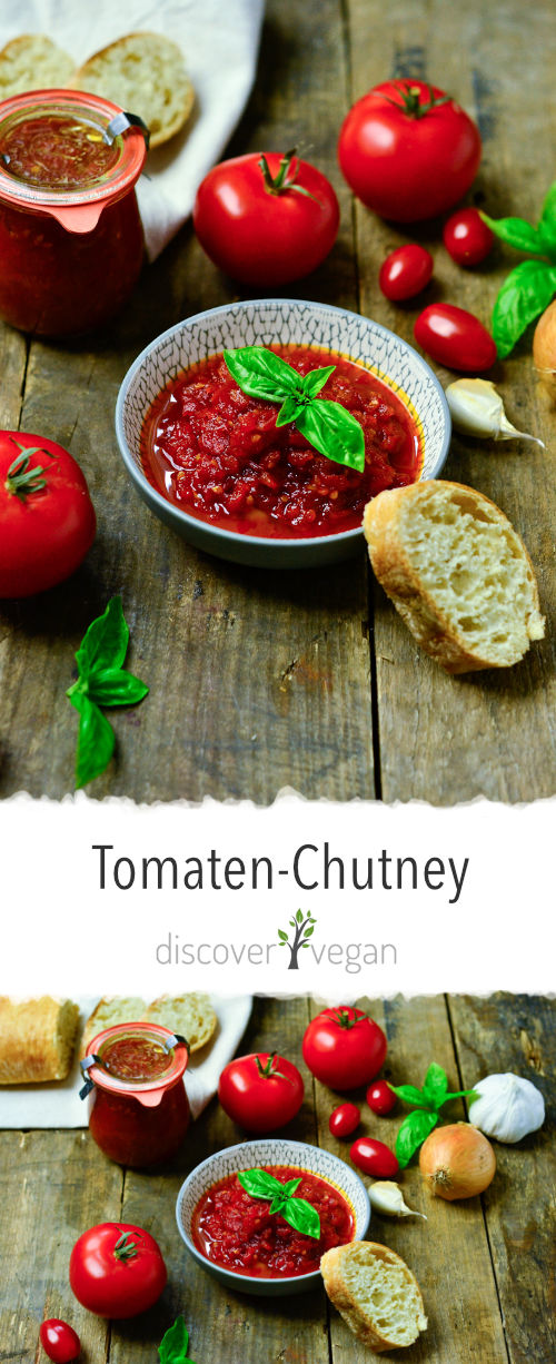 Tomato chutney from sun-ripened  tomatoes