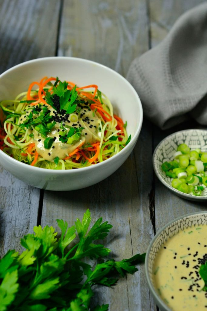 Zoodles with Sesame Sauce